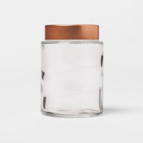 be5ed6731629 Round Glass Spice Jar with Copper Metal Lid - Threshold™