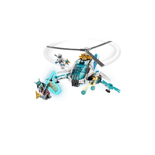 LEGO Ninjago ShuriCopter Kids Toy Helicopter Building Set with Ninja Minifigures and Toys Weapons 70673 image number null