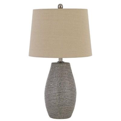 "25"" Ticino Ceramic Table Lamps with Taper Drum Hardback Shade Earth Tone - Cal Lighting"