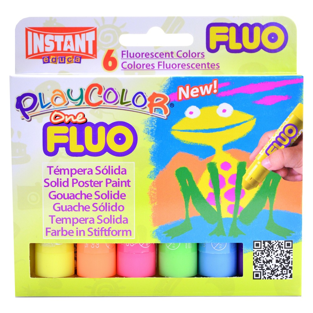 Image of Paint Sticks Fluorescent 6ct - Playcolor