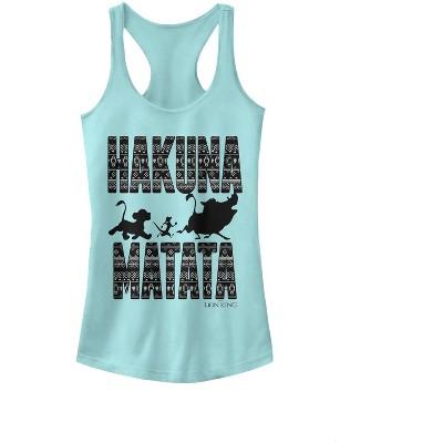 Junior's Lion King Hakuna Matata Racerback Tank Top