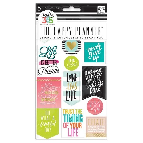 create 365 planner stickers life quotes asst color sizes target