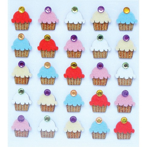 Jolee's Cupcake Stickers 25-pc. - image 1 of 1