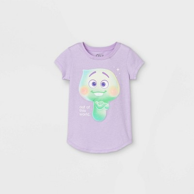 Girls' Disney 'Soul Out of This World' Short Sleeve T-Shirt - Purple