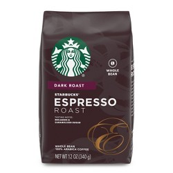 Starbucks Espresso Roast Dark Roast Whole Bean Coffee - 12oz