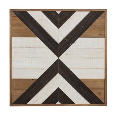 "24"" x 24"" Baralt Shiplap Wood Plank Art Brown - Kate and Laurel"