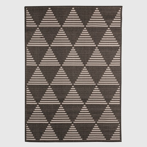 Pyramid Tile Outdoor Rug Black - Project 62™ - image 1 of 2