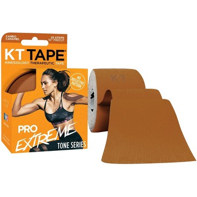 """KT Tape Pro Extreme Tone Series 10"""" Precut Kinesiology Sports Roll - 20 Strips"""
