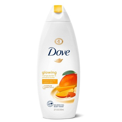 Dove Glowing Mango & Almond Butter Body Wash Soap - 22  fl oz