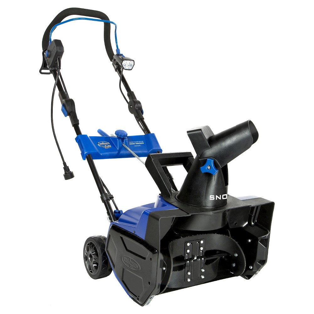 Snow Joe 18 In 14.5 Amp Electric Snow Thrower with Light, Blue