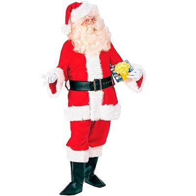 Rubies Mens XXXL Professional Velvet Santa Suit