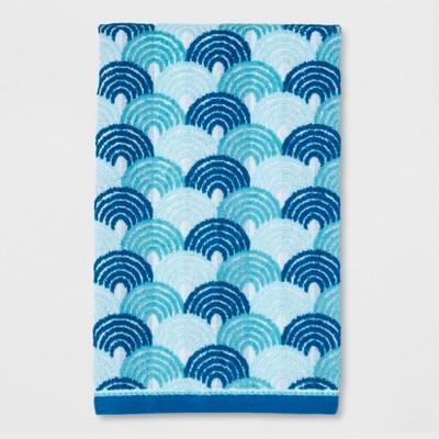Scallop Bath Towel Blue - Pillowfort™