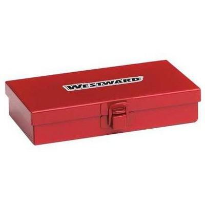 """WESTWARD 35XR63 6-1/2""""W Red Socket Storage Box, Powder Coated"""
