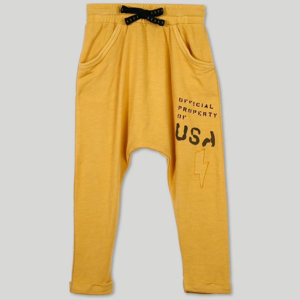 Afton Street Toddler Boys' Jogger Pants - Yellow 2T