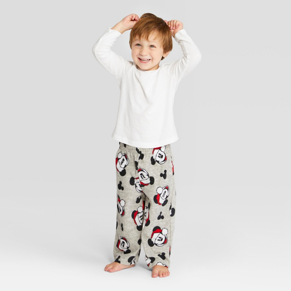 Toddler Mickey Mouse & Friends Holiday Pajama Pants - Gray 3T, Toddler Boy's