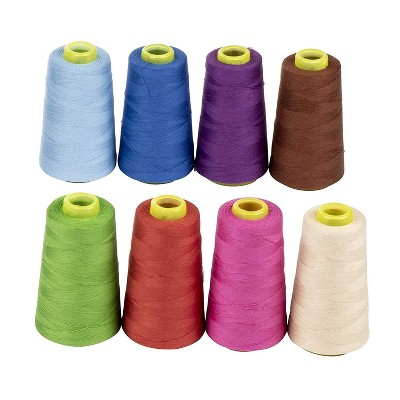 Juvale 8 Pack Sewing Thread Cotton Spools, 8 Colors (1700 Yards Each)