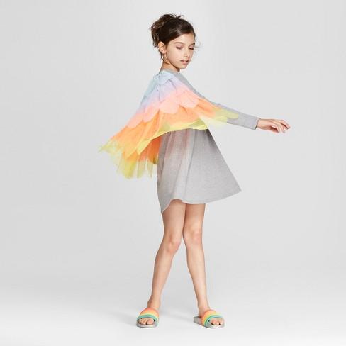 9d2d8f82b15 Girls  Grey Sparkle Dress With Tulle Cape - Cat   Jack™   Target