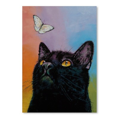 Americanflat Black Cat Butterfly by Michael Creese Poster