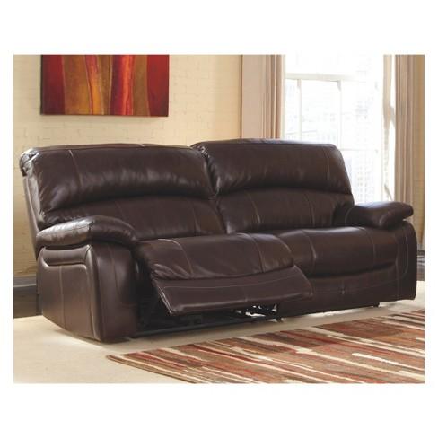 Damacio 2 Seat Reclining Sofa - Dark Brown - Signature Design by Ashley