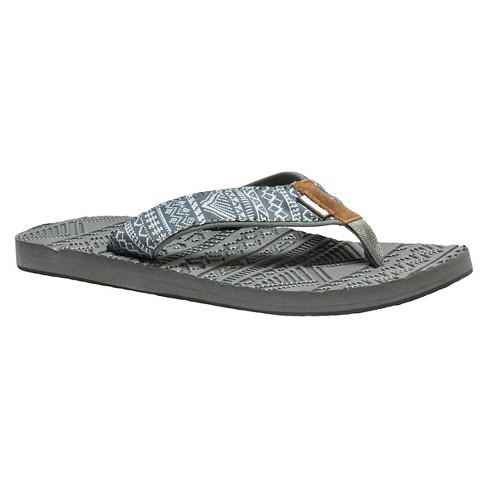 Men's MUK LUKS® Scotty Flip Flop Sandals - Gray 11 - image 1 of 6