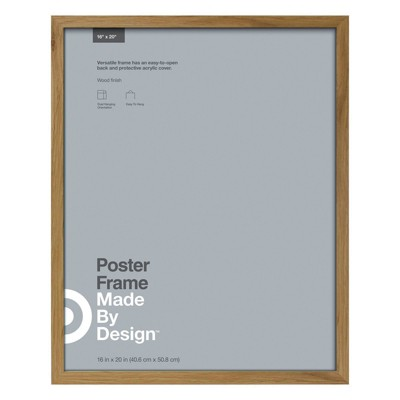 "16"" x 20"" Poster Frame Brown - Made By Design™"