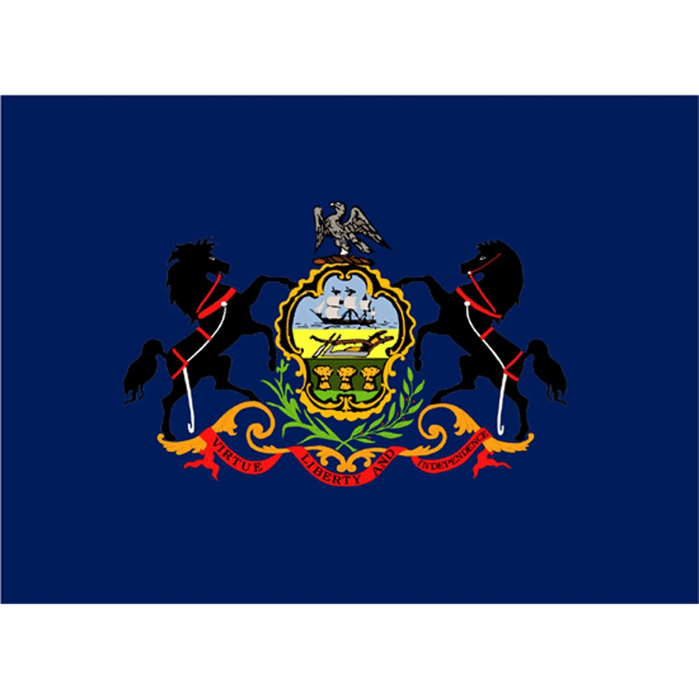 Image of Halloween Pennsylvania State Flag - 4' x 6'