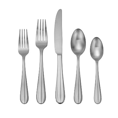 Oneida 20pc Satin Casson Silverware Set