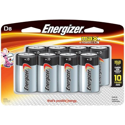 Energizer Max D Batteries 8 ct (E95BP-8H)