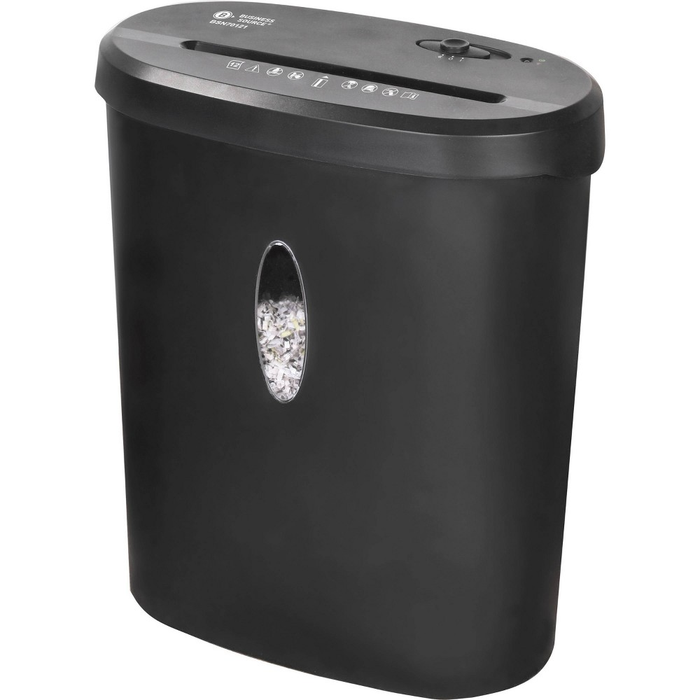 Image of Business Source 4.6 gallon Bin Cross-cut Shredder, Black
