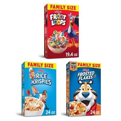 Kellogg's Rice Krispies & Froot Loops Breakfast Cereal Bundle