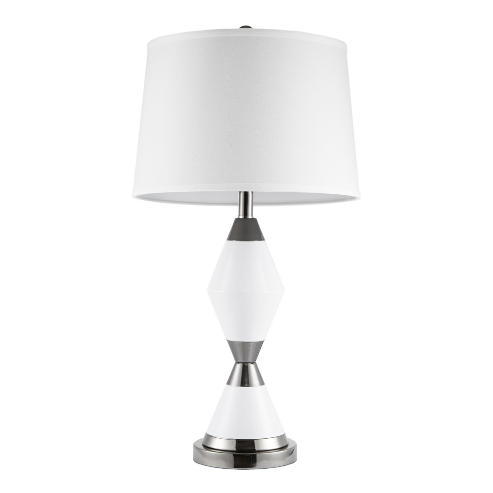 """Image of """"Abbott Table Lamp White/Silver 15"""""""" x 28.75"""""""""""""""
