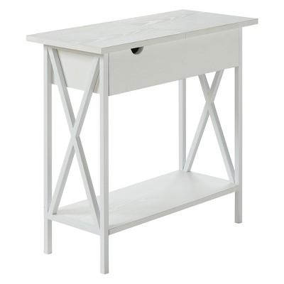 Tucson Electric Flip Top Table White - Breighton Home