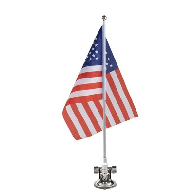 Juvale American Flag Car Mount, Patriotic US Flag with Metal Stand & Suction Cup for Vehicle Decor, 8 X 11 in