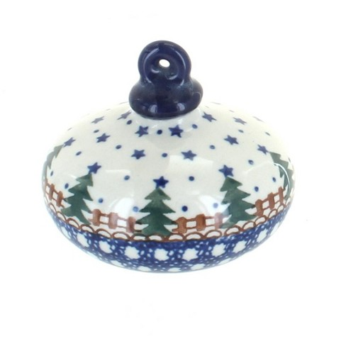 Blue Rose Polish Pottery Rustic Pines Flat Christmas Ornament - image 1 of 1