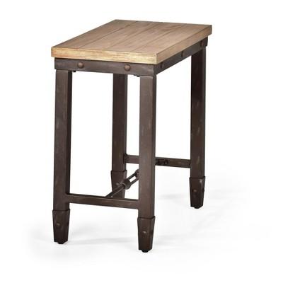 Jersey Chairside End Table Antique Oak - Steve Silver