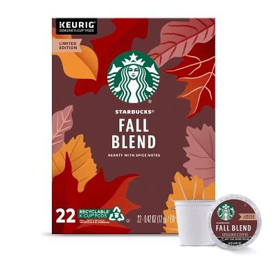 Starbucks Fall Blend Medium Roast Coffee - Single Serve Pods - 22ct