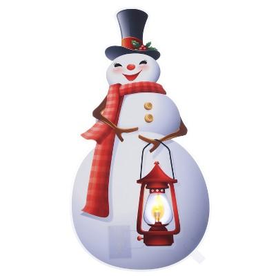 "Mr. Christmas Indoor LED Window Decal Christmas Decoration - Snowman - 13"""