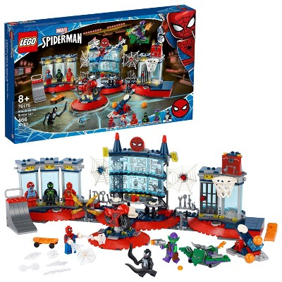 LEGO Marvel Spider-Man Attack on the Spider Lair Building Toy 76175