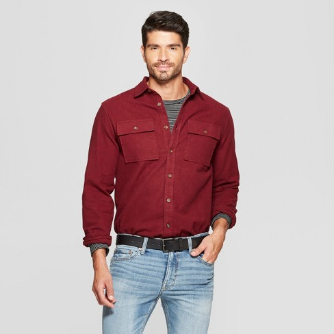 Men's Long Sleeve Pocket Flannel Button-Down Shirt - Goodfellow & Co™ - image 1 of 3