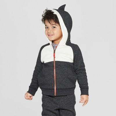 Genuine Kids® from OshKosh Toddler Boys' Orca Dress Up Hoodie - Black 12M