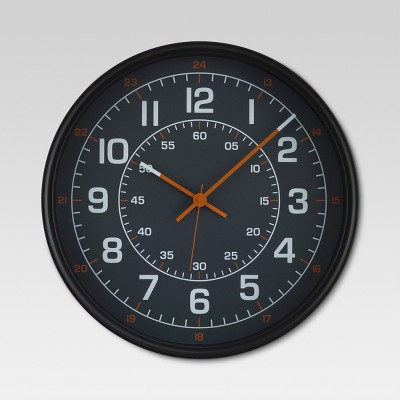 20  Aviator Wall Clock Black - Threshold™