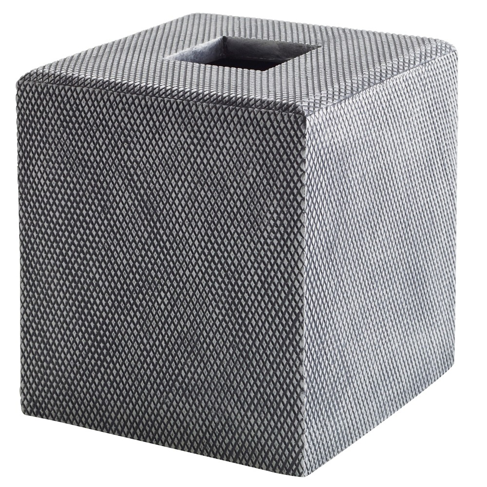 Mesh Tissue Holder Silver - Kassatex, Grey