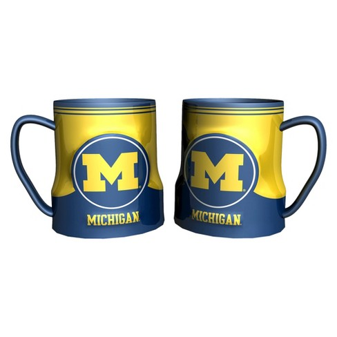 Michigan Wolverines Boelter Brands 2 Pack Game Time Coffee Mug - Blue/ Yellow (20 oz) - image 1 of 1