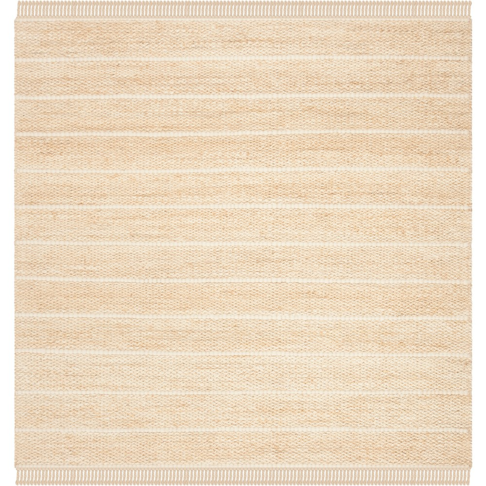 6'X6' Solid Woven Square Area Rug Ivory - Safavieh