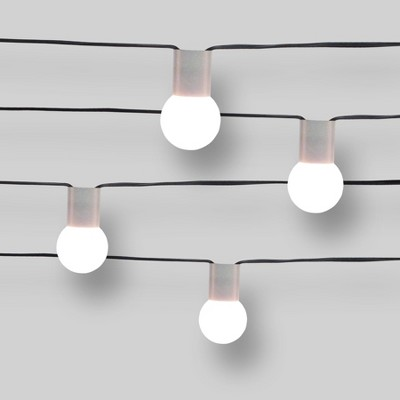 10ct String Lights Concrete Collar - G40 Frosted White Bulbs - Project 62™