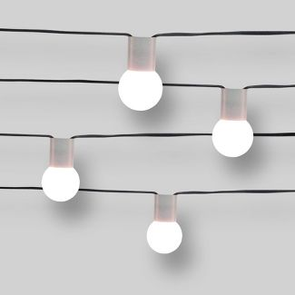 10ct Outdoor String Lights G40 Frosted White Bulbs Concrete Collar - Project 62™