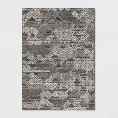 5'x7' Mariana Hand Tufted Distressed Geo Wool Area Rug - Opalhouse™