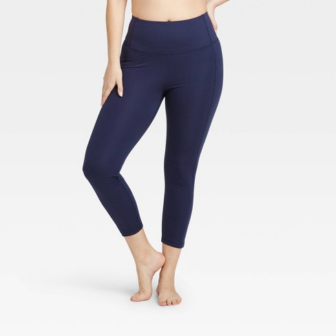 """Women's Contour Power Waist High-Waisted 7/8 Leggings 24"""" - All in Motion™ - image 1 of 4"""
