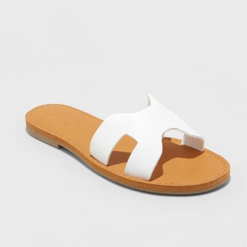 3726bd7e3 Women's Jenny Slide Sandals - Universal Thread™ White 6 : Target