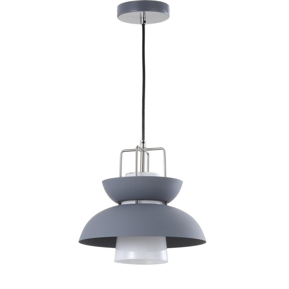 Image of 11 Paul Farmhouse Metal Led Pendant Gray (Includes Energy Efficient Light Bulb) - Jonathan Y